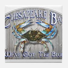 Chesapeake Bay Blues Tile Coaster