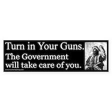 Turn in Your Guns Bumper Car Sticker