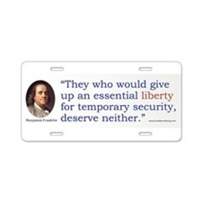 Franklin Essential Liberty Aluminum License Plate