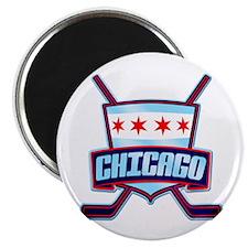 Chicago Hockey Flag Logo Magnet