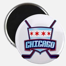 Chicago Hockey Flag Logo Magnet