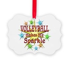 Volleyball Sparkles Picture Ornament