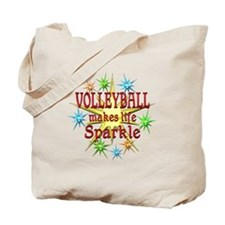 Volleyball Sparkles Tote Bag