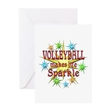 Volleyball Sparkles Greeting Card