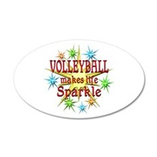 Volleyball Sparkles Wall Decal
