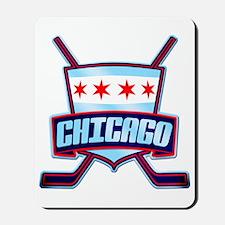 Chicago Hockey Flag Logo Mousepad