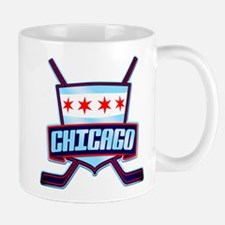 Chicago Hockey Flag Logo Mug