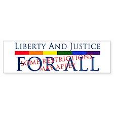 Liberty And Justice For All Bumper Bumper Sticker