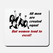 All men are created equal but women tend to excel