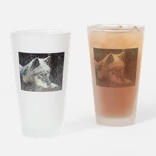 """Black Timber Wolf"" Drinking Glass"
