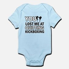 Kick Boxing vector designs Infant Bodysuit