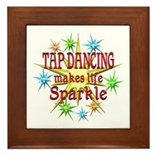 Tap Dancing Sparkles Framed Tile