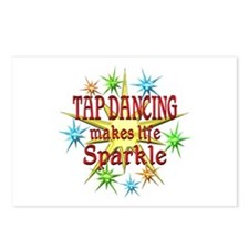 Tap Dancing Sparkles Postcards (Package of 8)