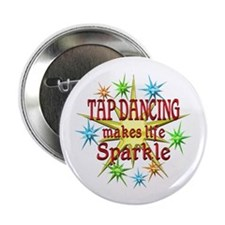 "Tap Dancing Sparkles 2.25"" Button"
