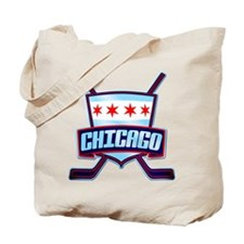 Chicago Hockey Flag Logo Tote Bag