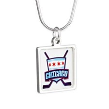 Chicago Hockey Flag Logo Necklaces