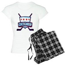 Chicago Hockey Flag Logo Pajamas