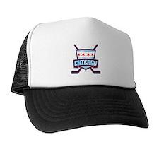 Chicago Hockey Flag Logo Trucker Hat