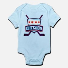 Chicago Hockey Flag Logo Body Suit