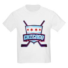 Chicago Hockey Flag Logo T-Shirt
