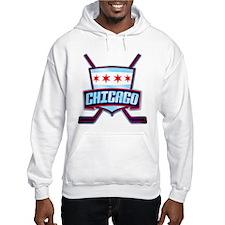 Chicago Hockey Flag Logo Hoodie
