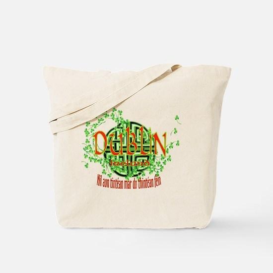 Dublin Shamrock Tote Bag