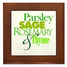 Parsley, Sage, Rosemary & Thyme Framed Tile
