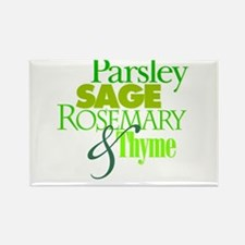 Parsley, Sage, Rosemary & Thyme Rectangle Magnet