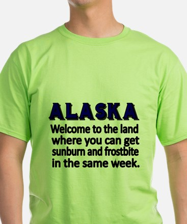 Alaska. Welcome to the land where you can get sunb