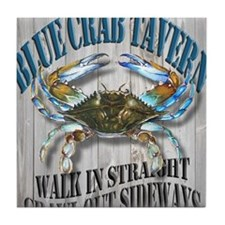 Blue Crab Tavern Tile Coaster