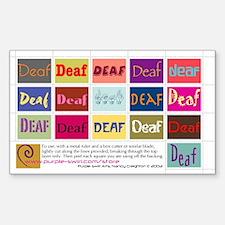 """""""Deaf"""" Sticker #1 (Rectangular)"""