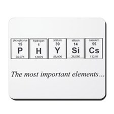 Physics Periodic Table Important Elements Mousepad