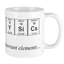 Physics Periodic Table Important Elements Small Mugs