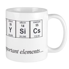 Physics Periodic Table Important Elements Small Small Mug