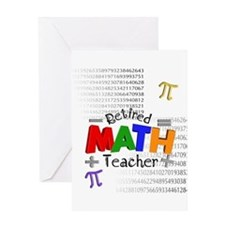 Retired Math Teacher 1 Greeting Card