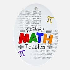 Retired Math Teacher 1 Ornament (Oval)