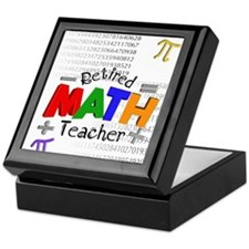 Retired Math Teacher 1 Keepsake Box