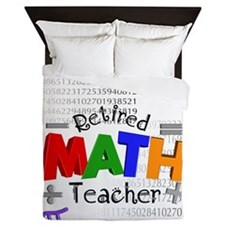 Retired Math Teacher 1 Queen Duvet