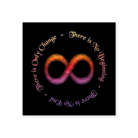 Infinity Is Change Sticker