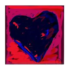 Blue Heart Tile Coaster