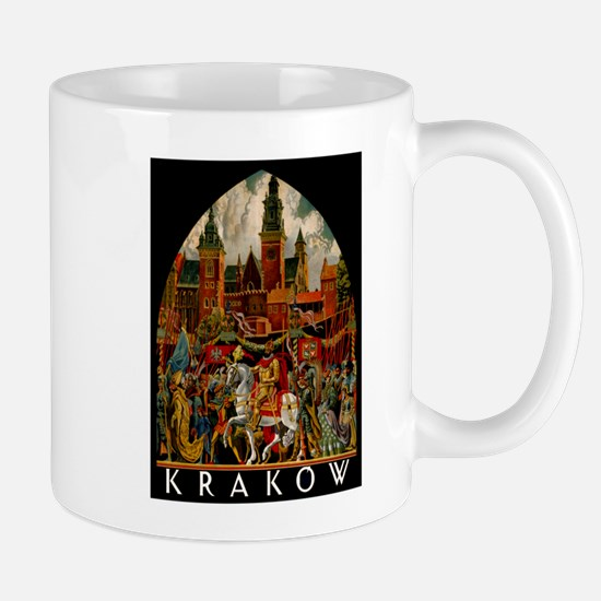 Vintage Krakow Poland Travel Mug