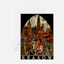 Vintage Krakow Poland Travel Greeting Cards (Pk of