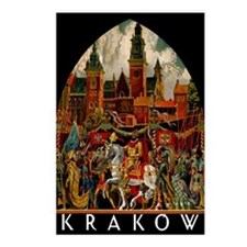 Vintage Krakow Poland Travel Postcards (Package of