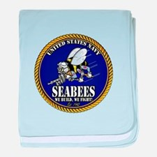 USN Seabees Gold Roped baby blanket