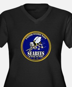 USN Seabees Gold Roped Plus Size T-Shirt