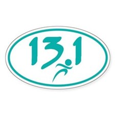Teal 13.1 half-marathon Decal