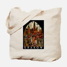 Vintage Krakow Poland Travel Tote Bag
