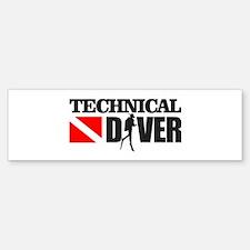 Technical Diver Bumper Bumper Bumper Sticker