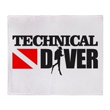 Technical Diver Throw Blanket