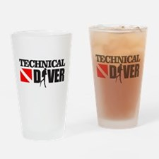 Technical Diver Drinking Glass